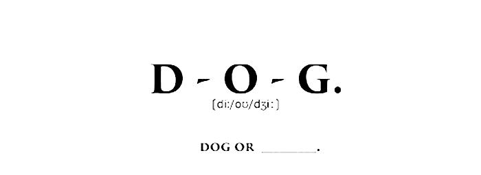 「D-O-G.」(ディーオージー)タイトル