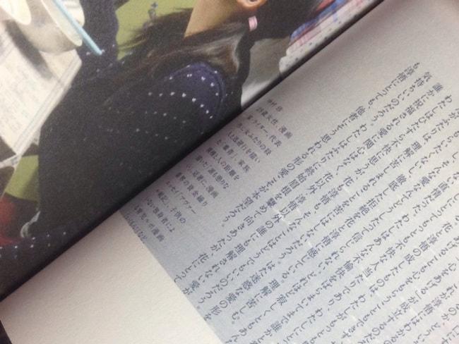 映画「私の男」劇場パンフレット掲載ページ見開き見本