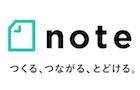 「note」のロゴ(ピースオブケイク)