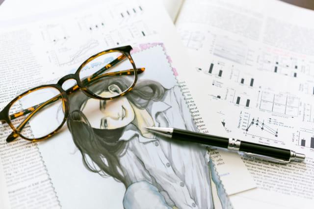 メガネ拭き(羣青)