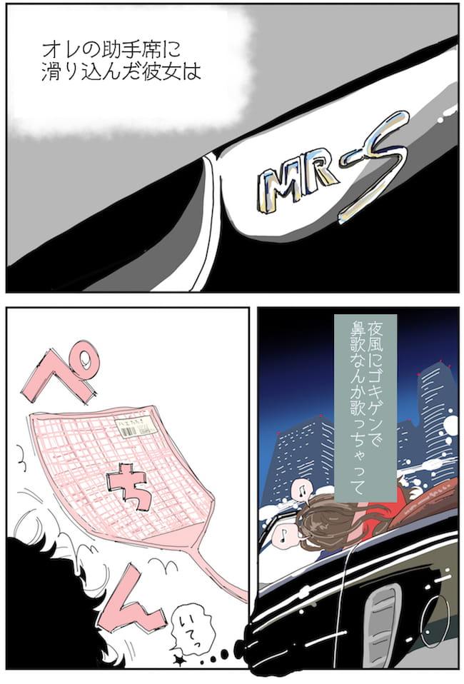 車と生活に関するマンガ(どっか行こっか P2)