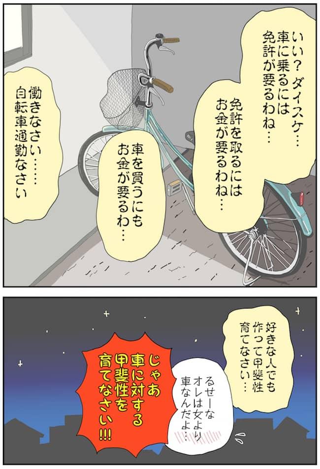 車と生活に関するマンガ(どっか行こっか P4)